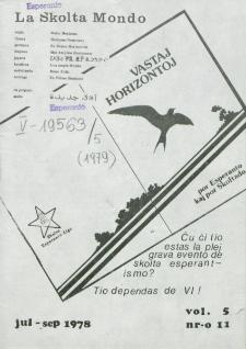 La Scolta Mondo. Vol. 5, n. 11 (1976/1980)