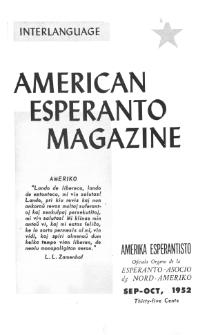 Amerika Esperantisto. Vol. 66, No 9/10 (1952)