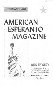 Amerika Esperantisto. Vol. 67, No 11/12 (1953)