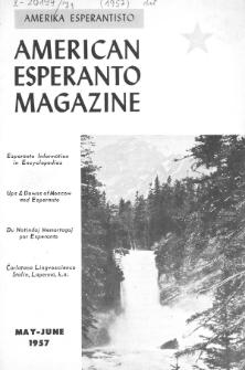 Amerika Esperantisto. Vol. 71, No 5/6 (1957)