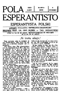 Pola Esperantisto : esperantaj sciigoj por pollingvanoj. Jaro 30, no 3 (Marto 1936)