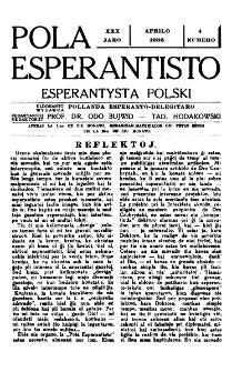 Pola Esperantisto : esperantaj sciigoj por pollingvanoj. Jaro 30, no 4 (Aprilo 1936)