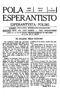 Pola Esperantisto : esperantaj sciigoj por pollingvanoj. Jaro 30, no 5 (Majo 1936)