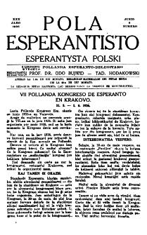 Pola Esperantisto : esperantaj sciigoj por pollingvanoj. Jaro 30, no 6 (Junio 1936)