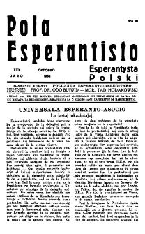 Pola Esperantisto : esperantaj sciigoj por pollingvanoj. Jaro 30, no 10 (Oktobro 1936)