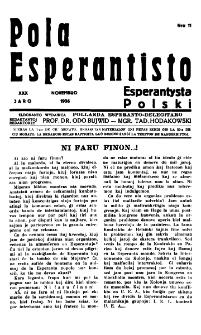 Pola Esperantisto : esperantaj sciigoj por pollingvanoj. Jaro 30, no 11 (Novembro 1936)