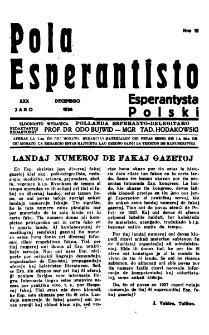 Pola Esperantisto : esperantaj sciigoj por pollingvanoj. Jaro 30, no 12 (Decembro 1936)