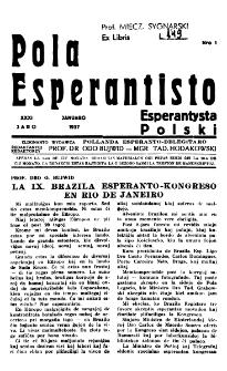 Pola Esperantisto : esperantaj sciigoj por pollingvanoj. Jaro 31, no 1 (Januaro 1937)