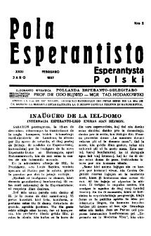 Pola Esperantisto : esperantaj sciigoj por pollingvanoj. Jaro 31, no 2 (Februaro 1937)