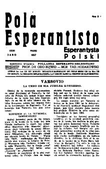 Pola Esperantisto : esperantaj sciigoj por pollingvanoj. Jaro 31, no 5 (Majo 1937)
