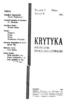 Krytyka : miesięcznik społeczny, naukowy i literacki. R. 2, z. 3 (1900)