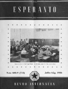 Esperanto : revuo internacia : oficiala organo de Universala Esperanto Asocio. Jaro 49, n. 608/609 (1956)