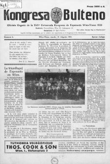 Kongresa Bulteno : oficiala Organo de la XVIa Universala Kongreso de Esperanto Wien-Vieno 1924. Numero 6