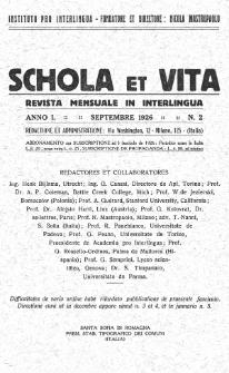 Schola et Vita : revista mensuale in interlingua. Anno 1, n. 2 (1926)