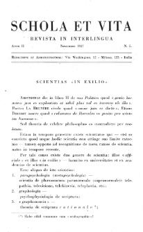 Schola et Vita : revista mensuale in interlingua. Anno 2, no 5 (1927)