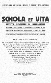 Schola et Vita : revista mensuale in interlingua. Anno 1, n. 3/4 (1926)