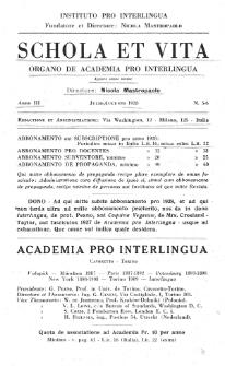 Schola et Vita : revista mensuale in interlingua. Anno 3, n. 5/6 (1928)