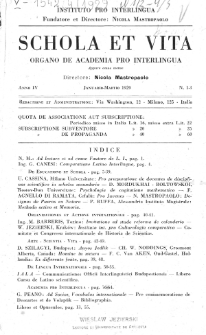 Schola et Vita : revista mensuale in interlingua. Anno 4, n. 1/3 (1929)