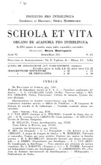 Schola et Vita : revista mensuale in interlingua. Anno 6, n. 4/5 (1931)