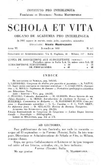 Schola et Vita : revista mensuale in interlingua. Anno 6, n. 6/7 (1931)