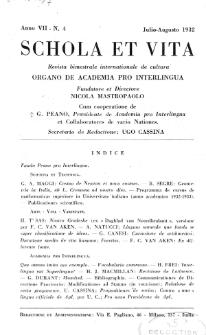 Schola et Vita : revista mensuale in interlingua. Anno 7, n. 4 (1932)