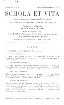 Schola et Vita : revista mensuale in interlingua. Anno 7, n. 6 (1932)