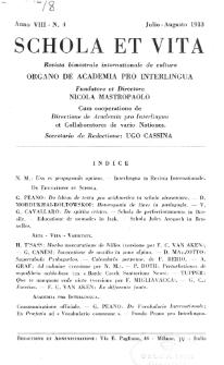 Schola et Vita : revista mensuale in interlingua. Anno 8, n. 4 (1933)