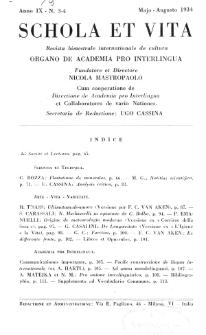 Schola et Vita : revista mensuale in interlingua. Anno 9, n. 3/4 (1934)