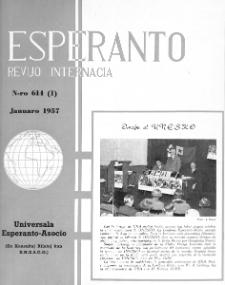 Esperanto : revuo internacia : oficiala organo de Universala Esperanto Asocio. Jaro 50, n. 614 (1957)