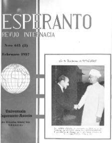 Esperanto : revuo internacia : oficiala organo de Universala Esperanto Asocio. Jaro 50, n. 615 (1957)