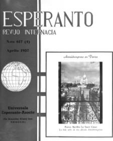 Esperanto : revuo internacia : oficiala organo de Universala Esperanto Asocio. Jaro 50, n. 617 (1957)