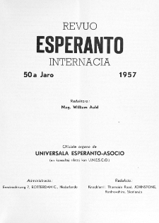 Esperanto : revuo internacia : oficiala organo de Universala Esperanto Asocio. Indeks Jaro 50 (1957)