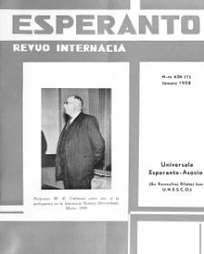 Esperanto : revuo internacia : oficiala organo de Universala Esperanto Asocio. Jaro 51, n. 626 (1958)