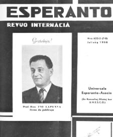 Esperanto : revuo internacia : oficiala organo de Universala Esperanto Asocio. Jaro 51, n. 632/633 (1958)