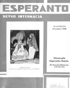 Esperanto : revuo internacia : oficiala organo de Universala Esperanto Asocio. Jaro 51, n. 636 (1958)