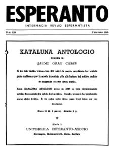 Esperanto : revuo internacia : oficiala organo de Universala Esperanto Asocio. Jaro 42, n. 520 (1949)