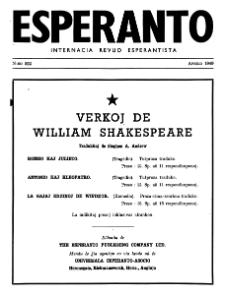 Esperanto : revuo internacia : oficiala organo de Universala Esperanto Asocio. Jaro 42, n. 522 (1949)