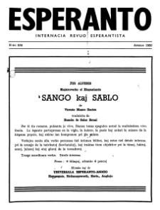 Esperanto : revuo internacia : oficiala organo de Universala Esperanto Asocio. Jaro 43, n. 534 (1950)