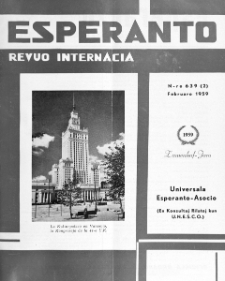 Esperanto : revuo internacia : oficiala organo de Universala Esperanto Asocio. Jaro 52, n. 639 (1959)