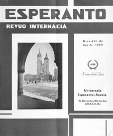 Esperanto : revuo internacia : oficiala organo de Universala Esperanto Asocio. Jaro 52, n. 641 (1959)