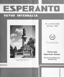 Esperanto : revuo internacia : oficiala organo de Universala Esperanto Asocio. Jaro 52, n. 644/645 (1959)