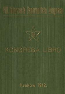 Kongresa Libro : oka Internacia Kongreso Esperantista Kraków, 11-18 de Aŭgusto 1912.