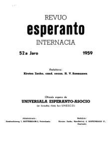 Esperanto : revuo internacia : oficiala organo de Universala Esperanto Asocio. Indeks Jaro 52 (1959)
