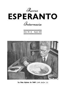 Esperanto : revuo internacia : oficiala organo de Universala Esperanto Asocio. Jaro 45, n. 556 (1952)