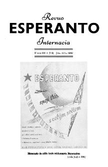 Esperanto : revuo internacia : oficiala organo de Universala Esperanto Asocio. Jaro 45, n. 560/561 (1952)