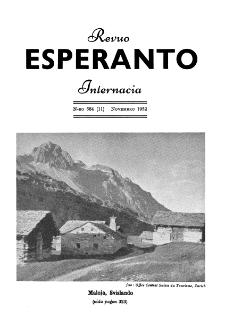 Esperanto : revuo internacia : oficiala organo de Universala Esperanto Asocio. Jaro 45, n. 564 (1952)