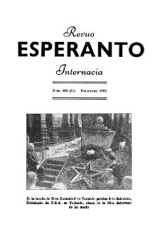 Esperanto : revuo internacia : oficiala organo de Universala Esperanto Asocio. Jaro 45, n. 565 (1952)