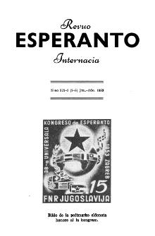 Esperanto : revuo internacia : oficiala organo de Universala Esperanto Asocio. Jaro 46, n. 572/573 (1953)
