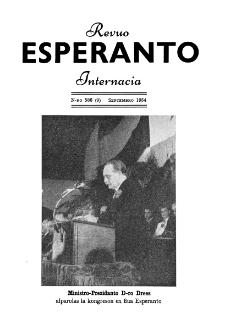 Esperanto : revuo internacia : oficiala organo de Universala Esperanto Asocio. Jaro 47, n. 586 (1954)