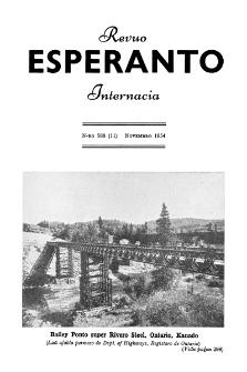 Esperanto : revuo internacia : oficiala organo de Universala Esperanto Asocio. Jaro 47, n. 588 (1954)